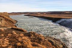 Waterfall Gullfoss, Golden Circle tour, Iceland Royalty Free Stock Photo