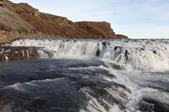 Waterfall Gullfoss, Golden Circle tour, Iceland Stock Photo