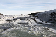 Waterfall Gullfoss, Golden Circle tour, Iceland Royalty Free Stock Photos