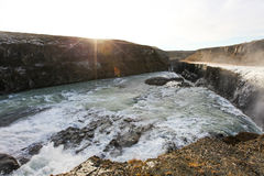 Waterfall Gullfoss, Golden Circle tour, Iceland Stock Images
