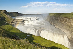 Waterfall of Gullfoss (Iceland) Royalty Free Stock Images