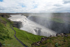 Waterfall Gullfoss, Iceland Royalty Free Stock Photography