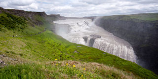 Waterfall Gullfoss, Iceland Royalty Free Stock Image