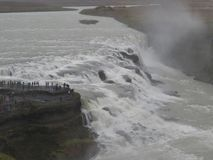 The waterfall Gullfoss. In Iceland, with more than 100m³ of water per second Royalty Free Stock Photography