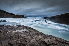 Waterfall Gullfoss. Iceland. Stock Images