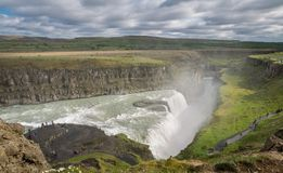 Waterfall Gullfoss, Iceland Royalty Free Stock Photos
