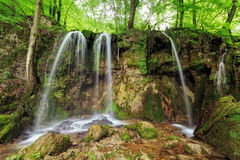 Waterfall Hajske in Slovakia Royalty Free Stock Photo