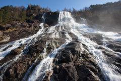 Waterfall in Hardanger, Norway Stock Photo