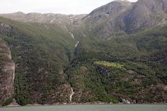 Waterfall on Hardangerfjord, Norway Stock Photos