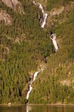 Waterfall on Hardangerfjord, Norway Royalty Free Stock Photography