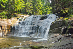 Waterfall. In Harrachov in the Czech republic Stock Photography