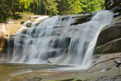 Waterfall. In Harrachov in the Czech republic Stock Image