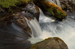 Waterfall, Hat Creek, Lassen Volcanic National Park Royalty Free Stock Photos