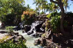 Waterfall in Hawaii Stock Photo