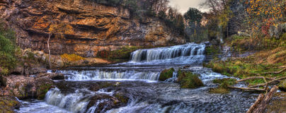 Waterfall in hdr Stock Images