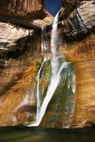Waterfall Heaven. Spring melt at Calf Creek Falls, Utah Stock Photography