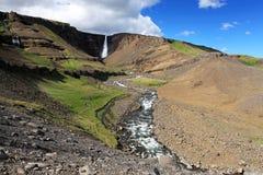 Waterfall hengifoss Royalty Free Stock Photography