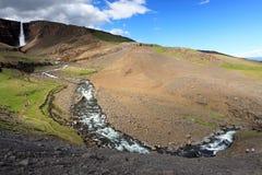 Waterfall hengifoss Stock Image