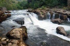 Waterfall. On the Herault river near SAint-Gulliem-lre-Desert, France stock photo
