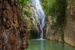 Waterfall. Hidden in the mountains Stock Photo