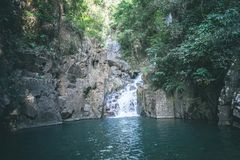Waterfall in Thailand. stock photos
