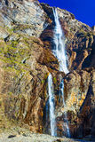 Waterfall in high mountains Stock Photography