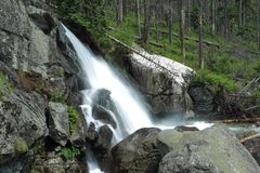 Waterfall in High Tatras Mountains Stock Images