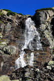 Waterfall. High Tatras and the view from the top Stock Image