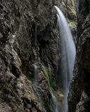 Waterfall. Hiking through the Bavarian Alps of Southern Germany stock images