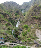 Waterfall in Himalaya. Bahundanda (1300 m below sea level), Nepal Royalty Free Stock Photography
