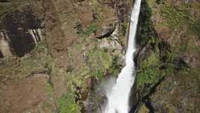 Waterfall in Himalayas range Nepal from Air view from drone stock video