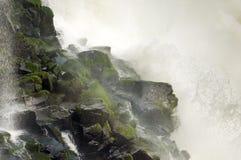 Waterfall Hitting Rock Royalty Free Stock Photo