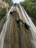 Waterfall horsetail stock photos