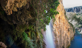 Waterfall of Horsetail at Monasterio de Piedra Royalty Free Stock Photos