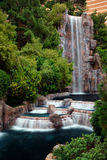 Waterfall and Horticulture, Las Vegas. Waterfall and Horticulture in front of Wynn Hotel, Las Vegas royalty free stock photography