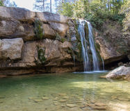 Waterfall. How nice to see water running royalty free stock photos
