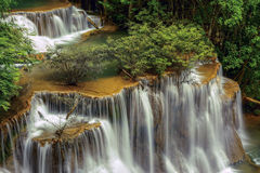 Waterfall Huai Mae Kamin in Kanchanaburi,Thailand Royalty Free Stock Photo