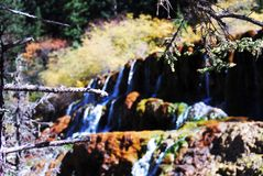 Waterfall in Huanglong royalty free stock photo