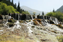 Waterfall of Huanglong national park Royalty Free Stock Photography