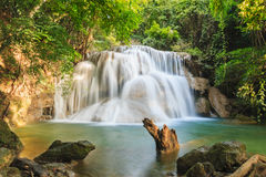 Waterfall Huay Mae Kamin Royalty Free Stock Image