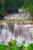 Waterfall Huay Mae Kamin National Park in Thailand. Royalty Free Stock Images