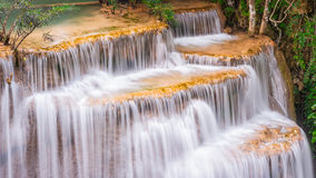 Waterfall Huay Mae Kamin National Park in Thailand. Royalty Free Stock Photo