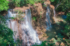Waterfall Huay Mae Kamin Park Royalty Free Stock Photography