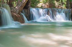 Waterfall Huay Mae Kamin Park Royalty Free Stock Photo