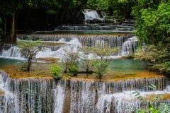Waterfall huay mae khamin in Kanchanaburi province. Thailand royalty free stock photos