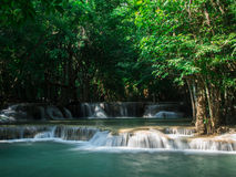 Waterfall at Huay Mae Khamin National Park Royalty Free Stock Image