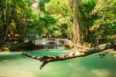 Waterfall at Huay Mae Khamin National Park Stock Photography