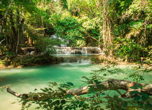Waterfall at Huay Mae Khamin National Park Royalty Free Stock Images