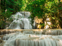 Waterfall at Huay Mae Khamin National Park Royalty Free Stock Photos