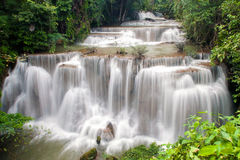 Waterfall. Huay Mae Khamin, paradise Waterfall located in deep forest of Thailand Royalty Free Stock Image